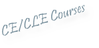 My Education: CE/CLE Courses